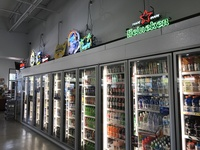 Commercial beer and beverage display