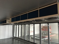 Center line evaporator installation with reinforced suspended ceiling